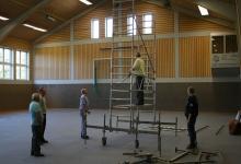 Aufbau Jubiläumsabend 2013